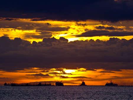 Sunset of Thailand Stock Photo - 14484156