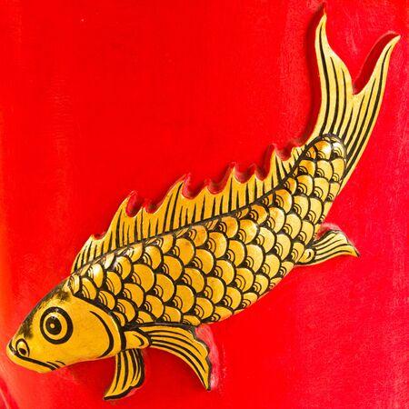 Fish sculptures of thai  photo