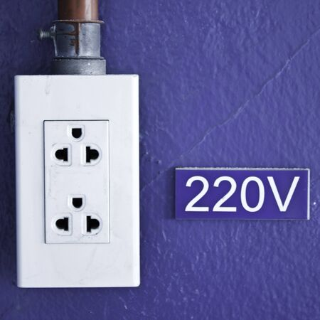 Power socket 220V of factory  photo