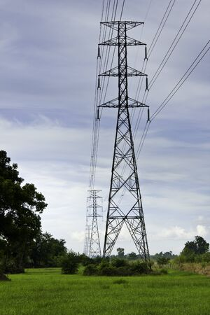 energy and high voltage powerline photo