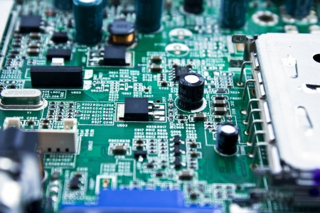 motherboard: close-up of electronic circuit