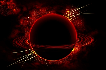 Saturn in the universe photo