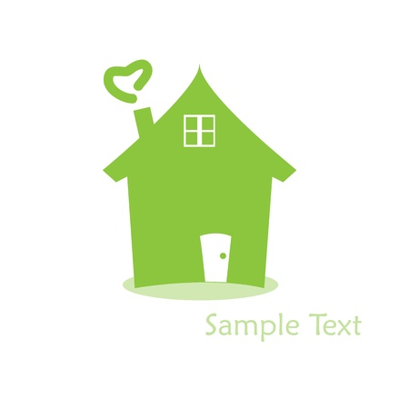 Home  logo  Stock Vector - 15540651