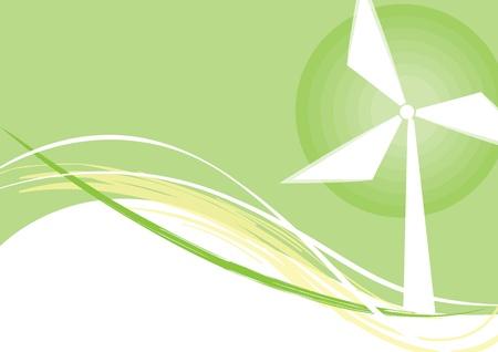 Denk Groen Ecologie Concept Stock Illustratie