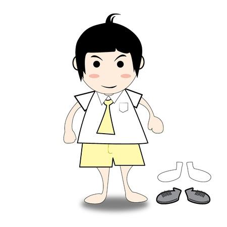 illustration of boy student