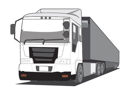 vector trailer truck