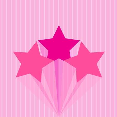 Colorful star pink Stock Vector - 16041231