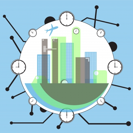 world of the time  Stock Vector - 16175289