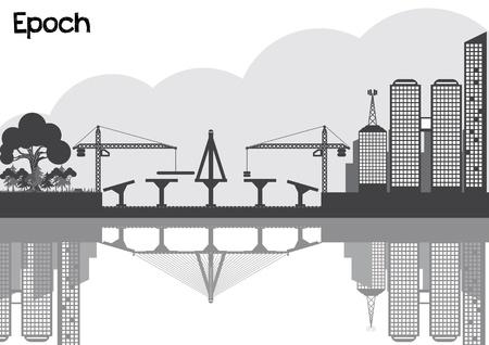 epoch: citt� nere silhouette epoca urbana concetto
