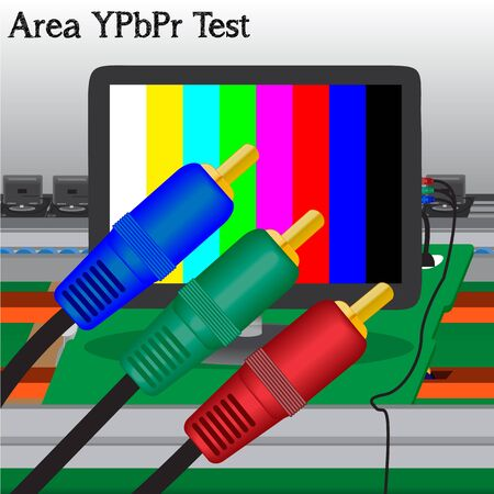 YPbPr signal Test in Process Production Television