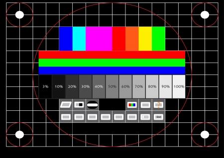 Televisie testscherm