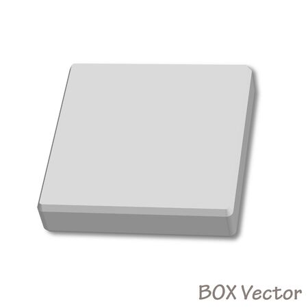 empty paper box  illustration isolated on white background Stock Vector - 16480263