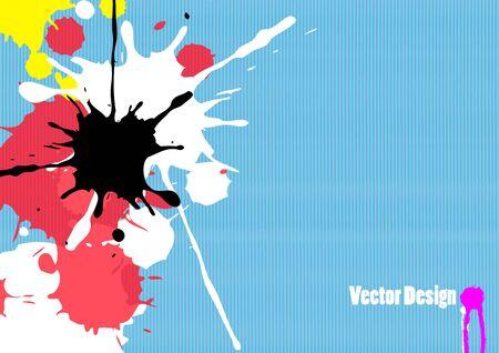 splash paint: abstract stripe background design Illustration