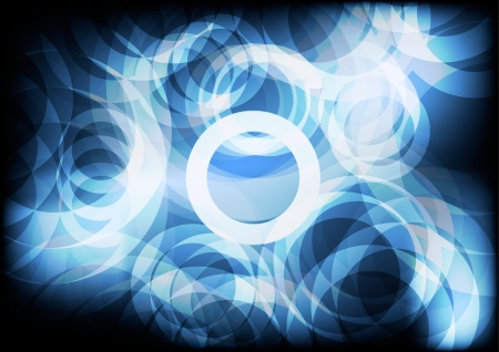 Blue Circle abstract backgrounds
