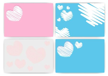 Set Love texture of colorful set Stock Vector - 16957356