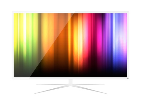 hdtv: Abstract LED Television  Illustration