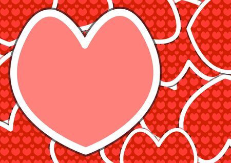 Heart Shapes Background of Valentin`s Day Vector