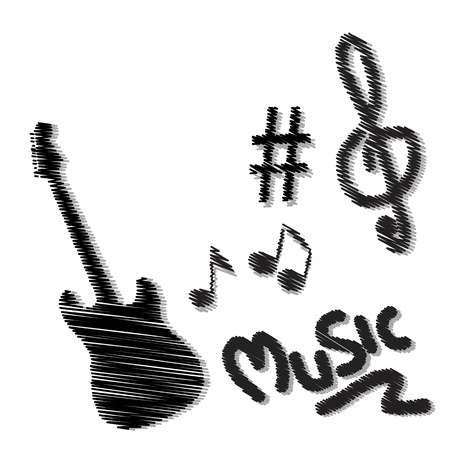 hand drawn music doodles Stock Vector - 17328415