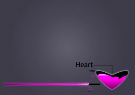 Loading bars for Heart and love photo