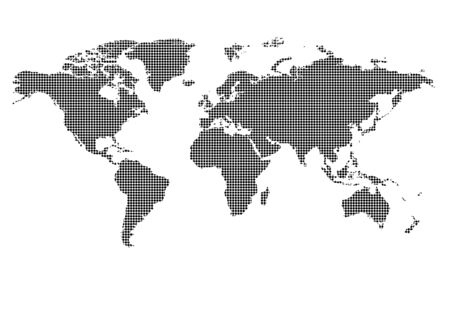 european map: World map of vector