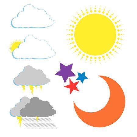 squall: Set Department of Meteorology. Illustration