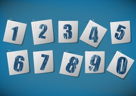 Numbers set. Vector. Stock Vector - 18398419