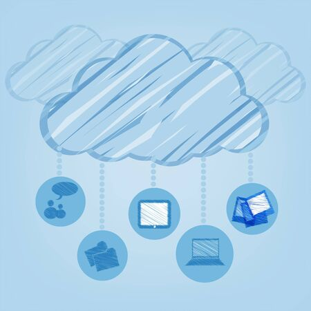 stock agency: Concetto di cloud computing. Vector illustration
