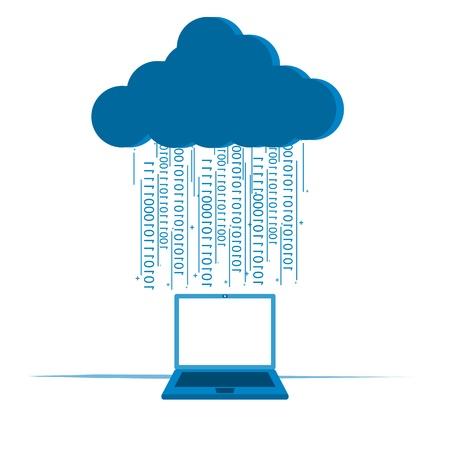 Cloud computing concept Stock Illustratie