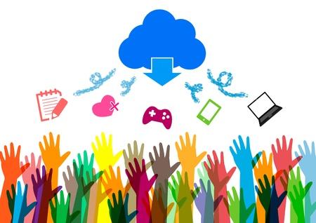 hands of money vector Social network Vector