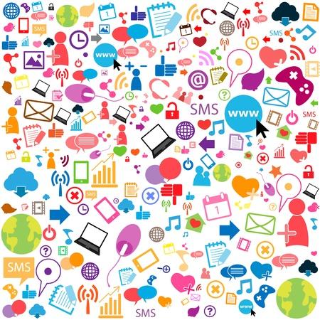 Soziale Netzwerk-Hintergrund mit Media icons Standard-Bild - 19160913
