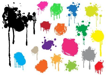 Grunge splashes Illustration