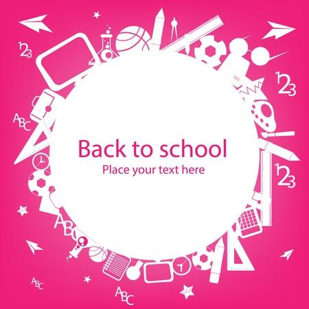fournitures scolaires: seamless, avec des ic�nes color�es school sur fond avec des ic�nes des m�dias