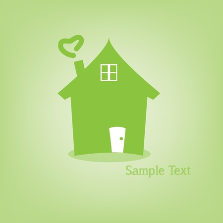 Home logo for concept money Illustration