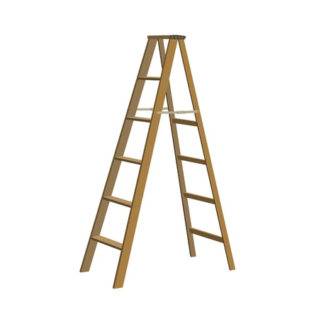 Illustration of various isolated ladders, stepladders -  set for your design Stock Vector - 20946501