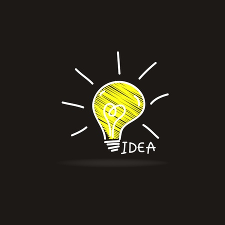 light bulb idea vector illustration Vector