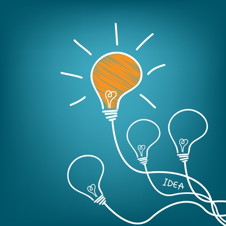 creative thinking: light bulb idea vector illustration