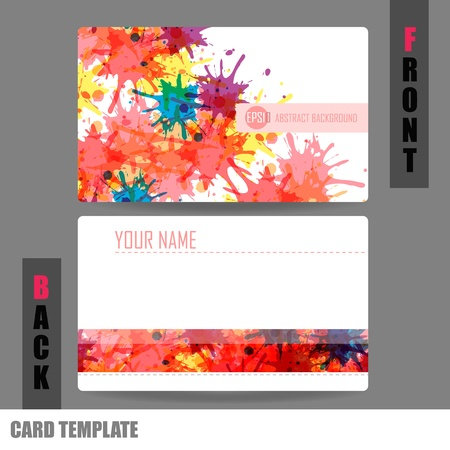 Moderne Business-Card Set Stock Illustratie