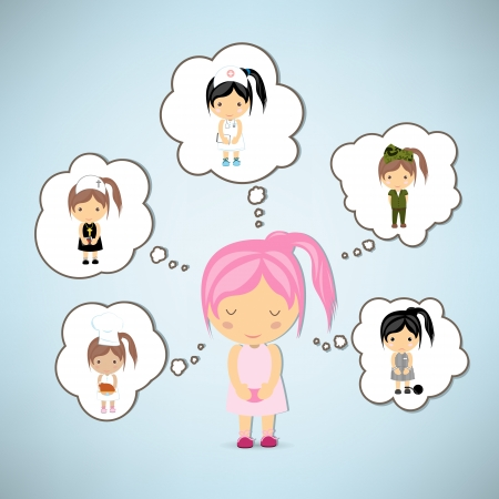 Dream girl cartoon vector Vector