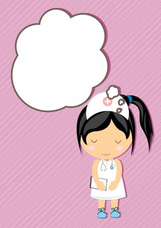dreamland: Nurse Dream girl cartoon vector