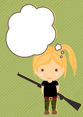 huntsman: Dream Huntsman girl cartoon vector