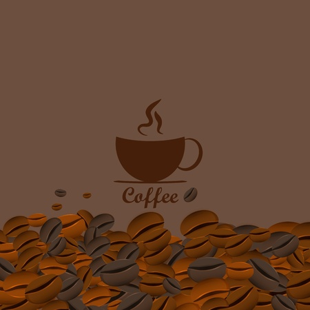 Coffee seamless background photo