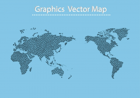 infomation: World Map Man icon and Information Graphics