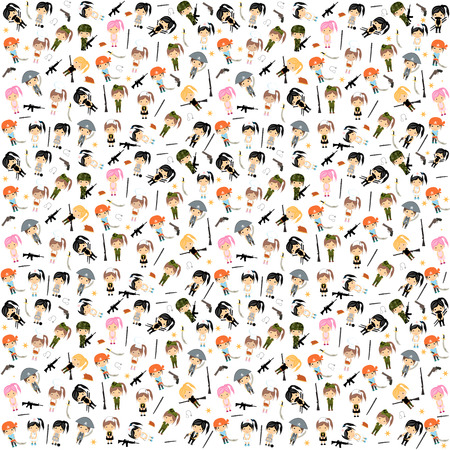 Woman Character Background - Vector Vector