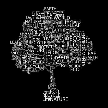 Eco Font vector set seamless pattern