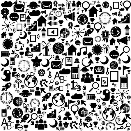 Circle Color Set of network icons - vector icons Stock Vector - 22197077