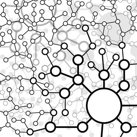 Molecuul en Communicatie Achtergrond - Vector Illustratie, Grafisch ontwerp Nuttig voor je ontwerp