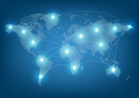 world network communication Illustration