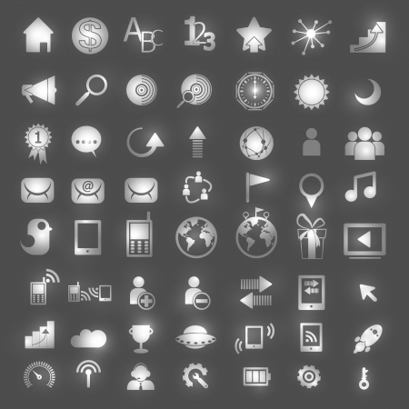 Set of network icons - vector icons Stock Vector - 22197120