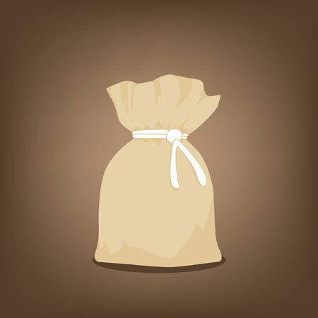 Simple purse on a background. Vector