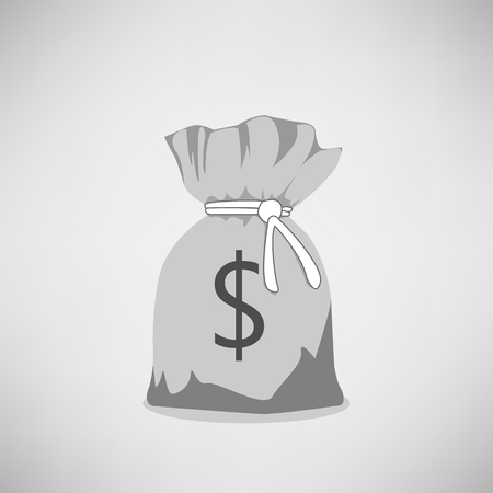 Pocket money on a simple background. Vector